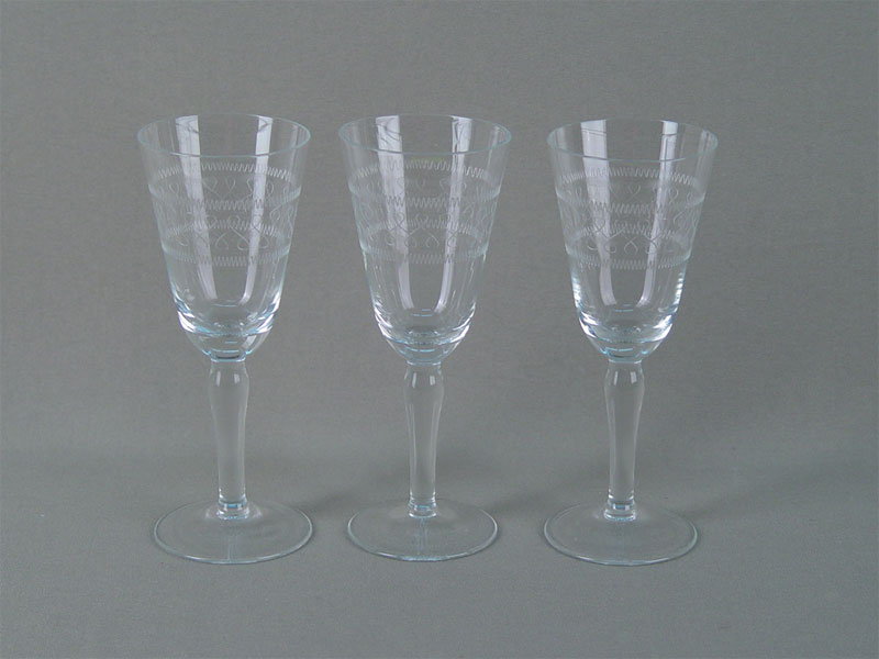 Антиквариат. бокалы, стекло, гравировка