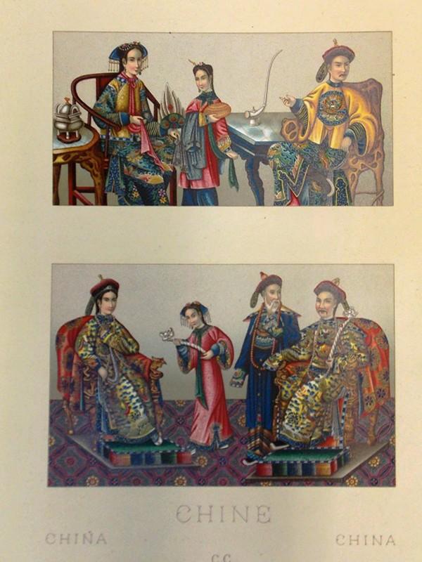Антиквариат. Китайский императорский костюм. Китай. Хромолитография