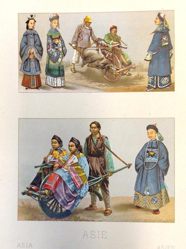 Антиквариат. Китайский повседневный костюм. Китай. Хромолитография