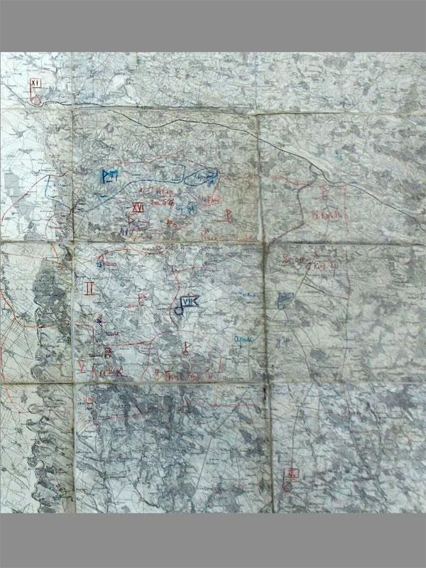 Антиквариат. Первая мировая война. Штабная карта