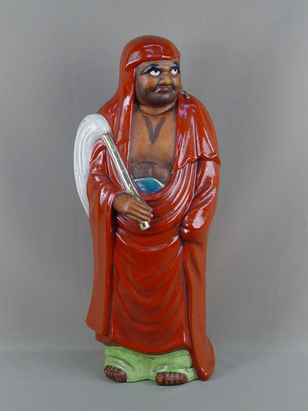 Скульптура «Дарума», фаянс, роспись. Япония, первая половина XXвека, высота— 43см