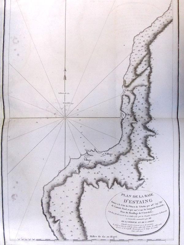 Антиквариат. Карта. Часть западного берега. остров Сахалин