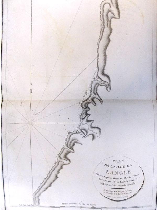 Антиквариат. Карта. Часть западного берега. остров Сахалин Углегорск
