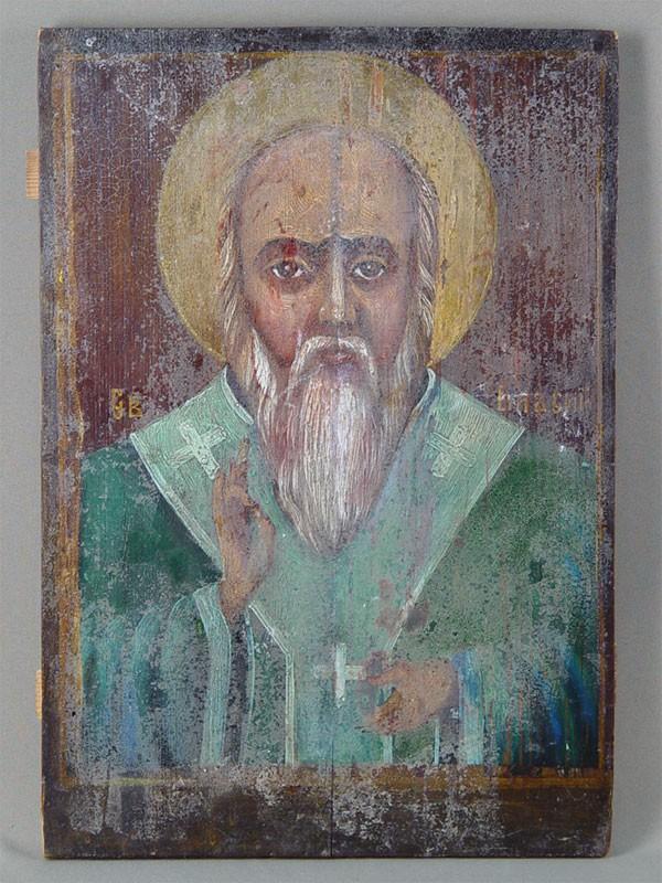 Антиквариат. Икона «Святой Власий»