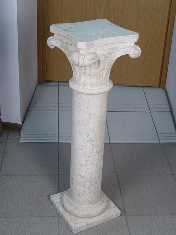 Консоль-колонна вклассическом стиле, ракушечник, высота— 84см
