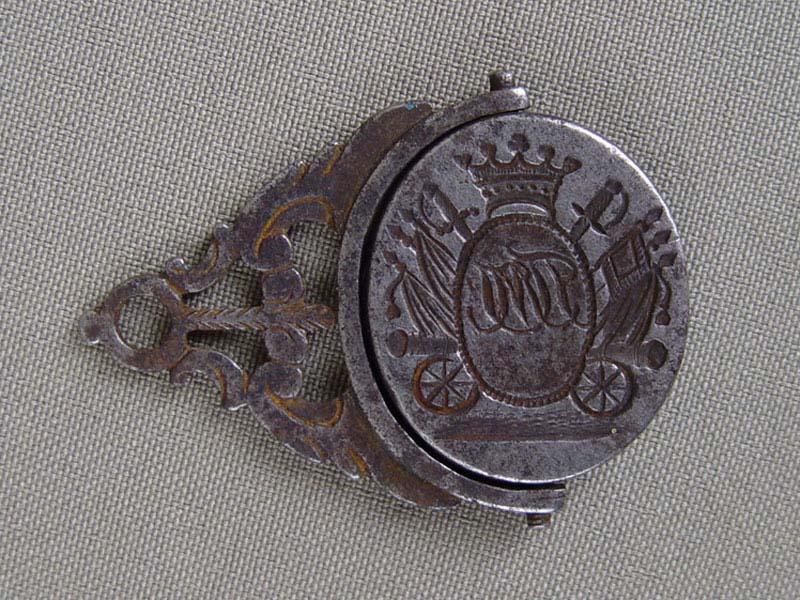 Печать «Военная символика», сталь, длина— 4,5см