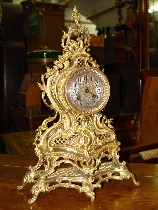 Антиквариат. бронзовые Часы каминные