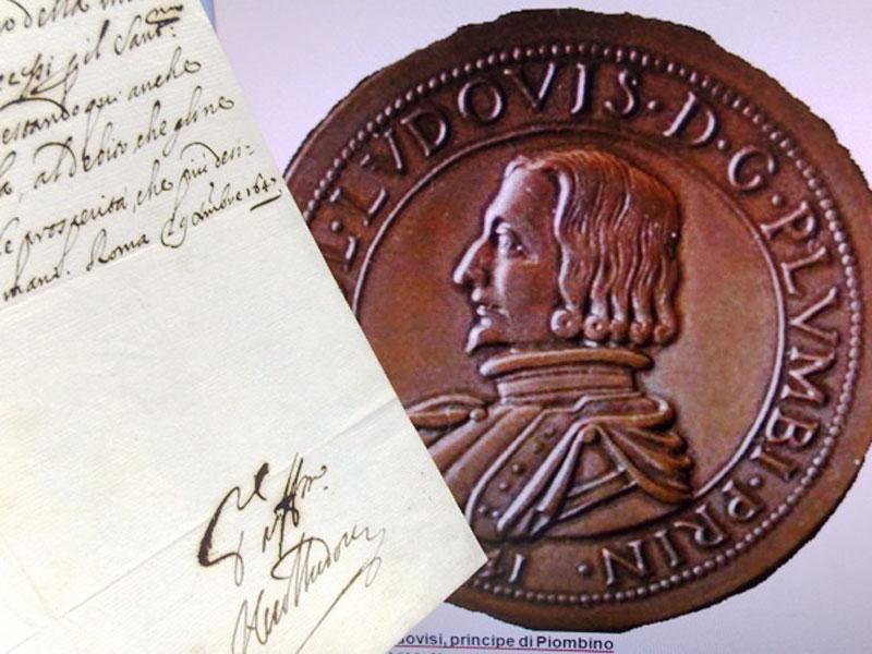 Князь Пьомбино, Никколо I (автограф). Рождественское поздравление архиепископу, папскому нунцию во Флоренции Аннибале Бентивольо от 25декабря 1664г. Спереводом._x000D_<p>Князь Пьомбино, Никколо I Людовизи / Niccolo Ludovisi, principe di Piombino (Болонья, 1610— Кальяри, 25декабря 1664), Испанский гранд. Вице-король Арагона (1660-1662) иСардинии (1662-1664). Командующий армией папы Иннокентия X. За верность испанскому королю он получил титул принца Солерно в1649году. Так же, в1655году, был награжден высшей наградой Испании— Орденом Золотого Руна. </p>