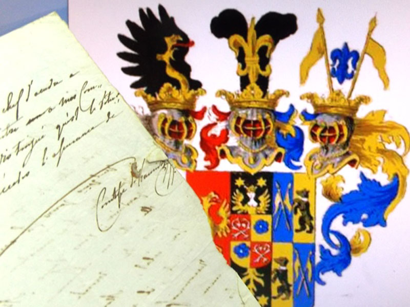Княгиня фон Кауниц, Франциска (автограф). Письмо изВены от 1июля 1808года к австрийскому художнику Joseph Kreutzinger (1757—1829) поповоду получения от него заказанной картины. Заказчиком выступал её свекр— обершталмейстер австрийского двора князь Доминик Андреас фон Кауниц (1740— 1812). Письмо спереводом._x000D_<p>Княгиня фон Каунитц, Franziska Xaverie (ур. графиня Ungnad von Weissenwolf, 1773—1859), жена австрийского дипломата Алойса Венцеля, князя Кауниц-Ритберга (1774вВене— 1848вПариже).</p> _x000D_