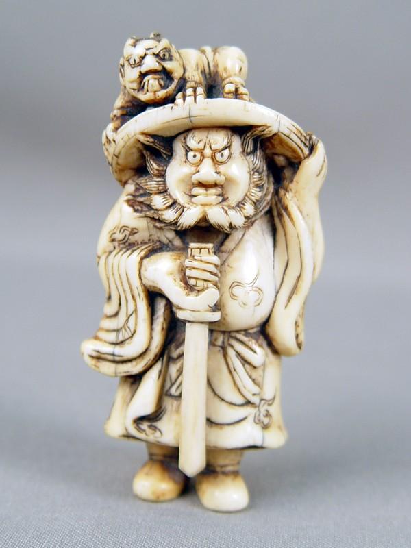 Антиквариат. нэцкэ, шоки, они, кость, япония, 18 век