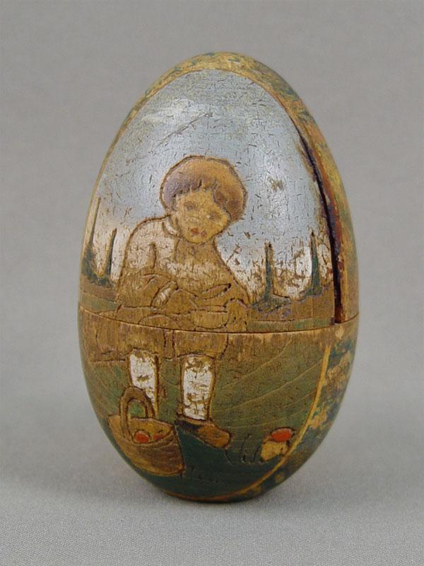 Антиквариат. Яйцо пасхальное русский стиль «Пастушок»
