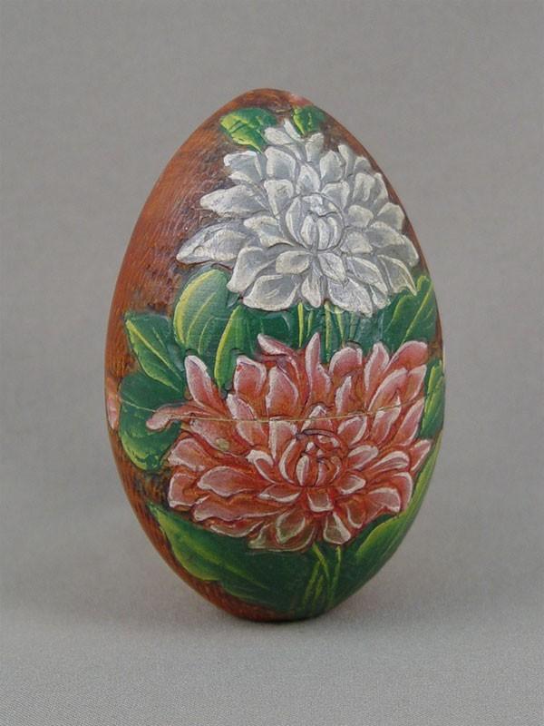 Антиквариат. Яйцо пасхальное русский стиль «цветы»