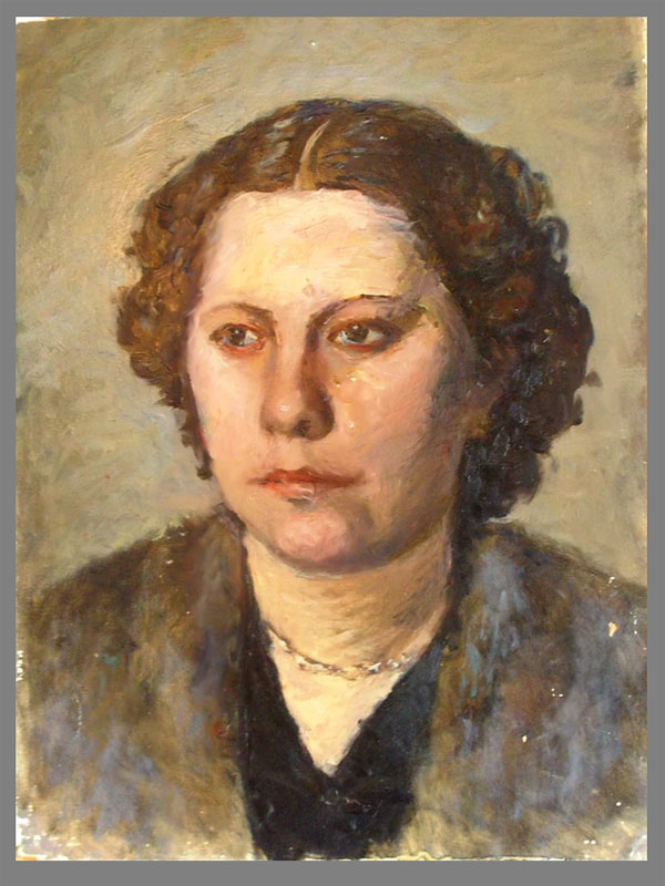 Антиквариат. Галкин,А., «Женский портрет»