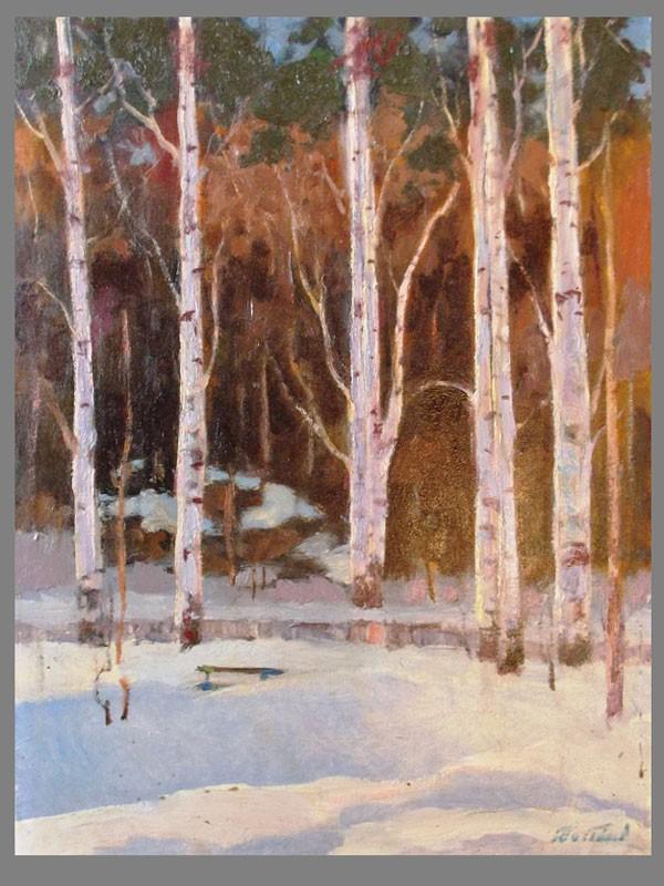 Антиквариат. Востоков,Е.И., «Зима. пейзаж Балашиха»