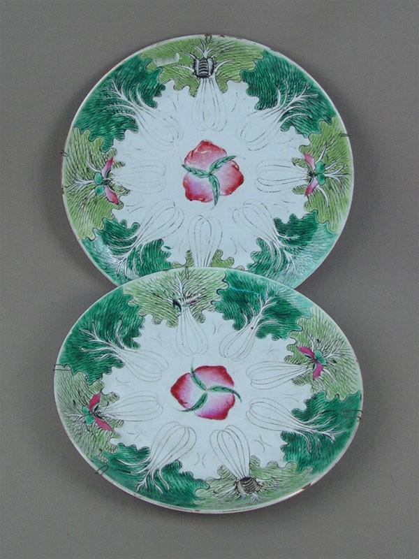 Антиквариат. старинная настенная тарелка, китайский фарфор