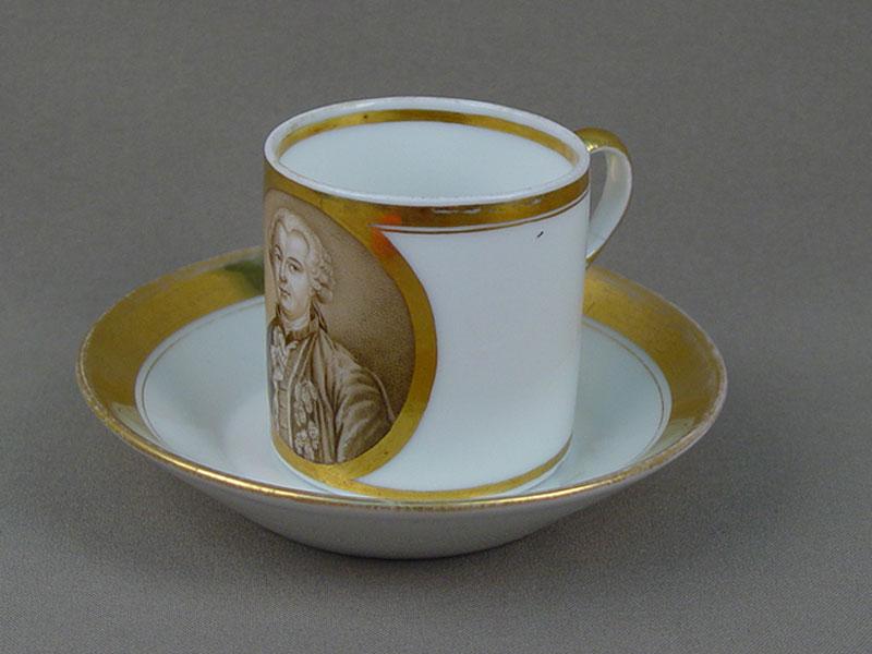 Антиквариат. Чайная пара «Григорий Орлов», антикварный фарфор