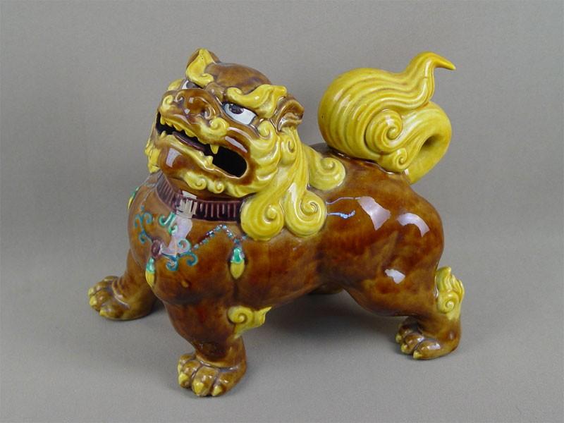 Антиквариат. «Собака Фо», фаянс, Япония