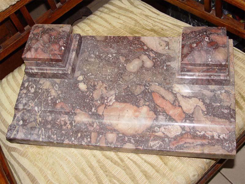 Чернильный прибор, камень, первая половина XXвека, 52×30см