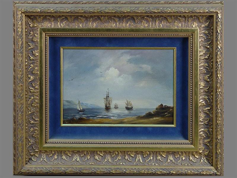 Антиквариат. «корабли. море. морской пейзаж»