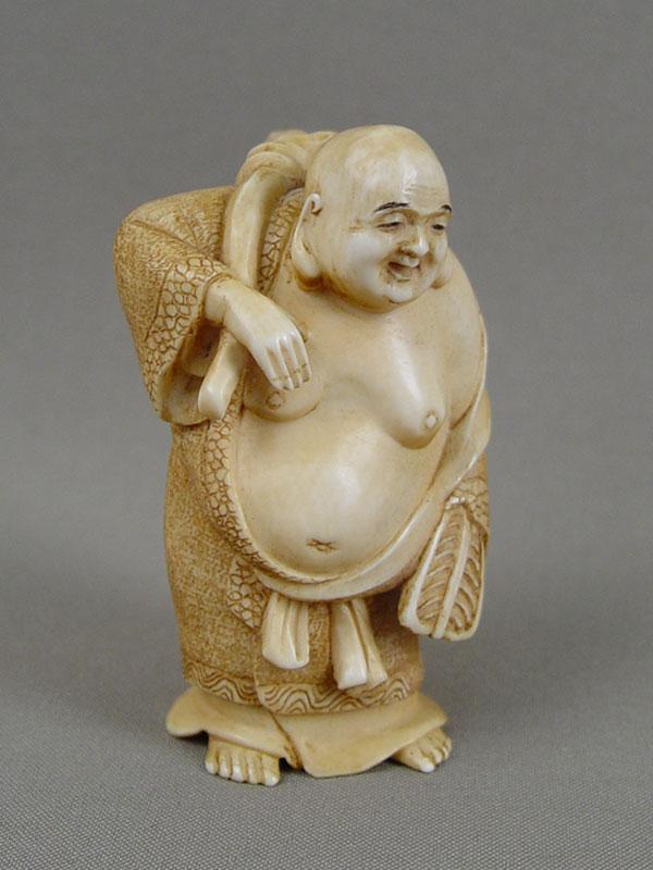 Антиквариат. Окимоно «Хоттей» бог счастья и богатства
