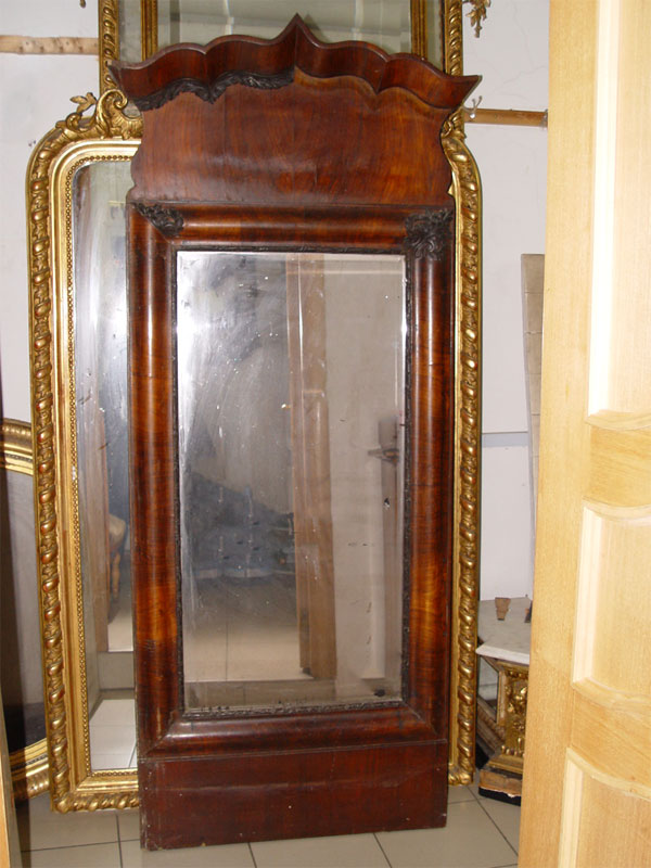 Антиквариат. старинное Зеркало настенное, орех