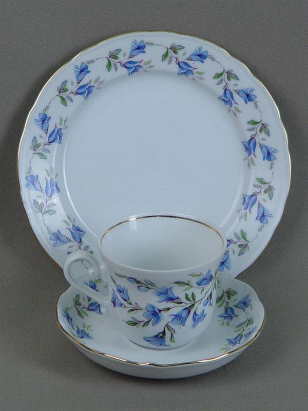 Чайная пара итарелка для пирожных, фарфор, деколь. Бавария, середина XXвека