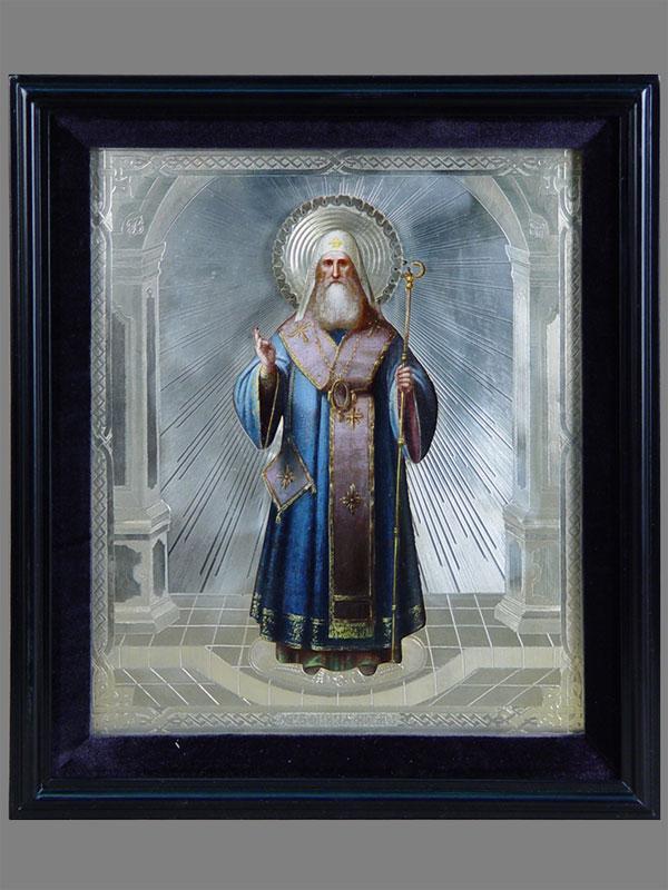 Антиквариат. Икона «Святой Алексий, митрополит Московский»