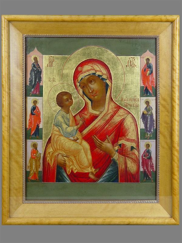 Антиквариат. Икона «Пресвятая Богородица Иерусалимская»