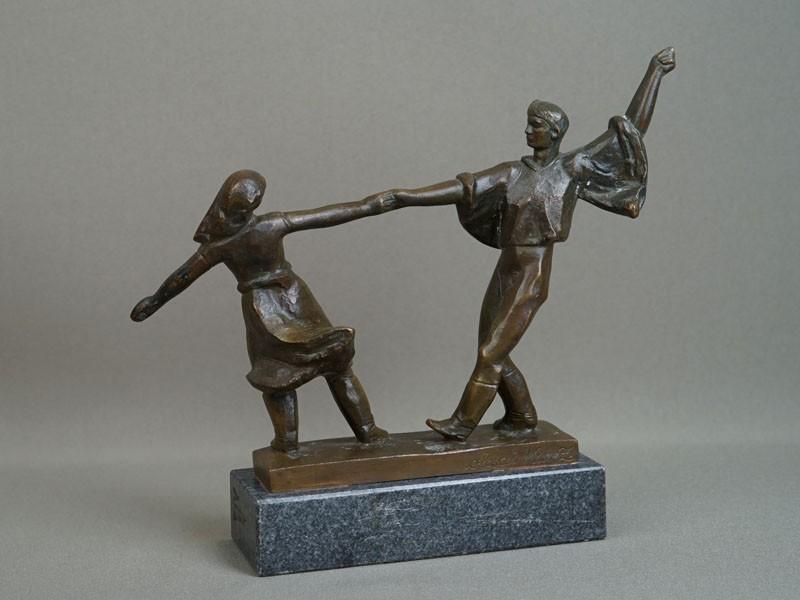 Антиквариат. «Танец», бронзовая скульптура