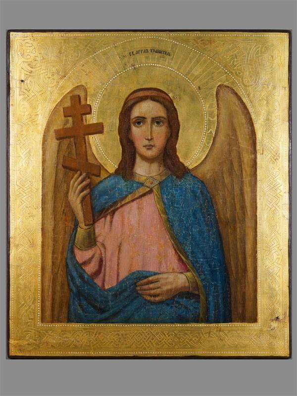 Антиквариат. Икона «Святой Ангел Хранитель»