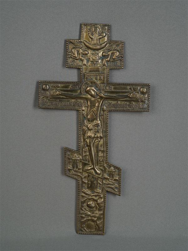 Антиквариат. «Распятие. Крест», медное литье