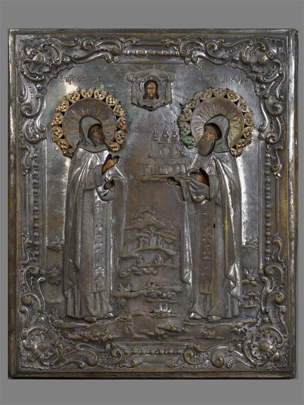 Антиквариат. Икона «Святые Преподобные Ефим и Михаил»