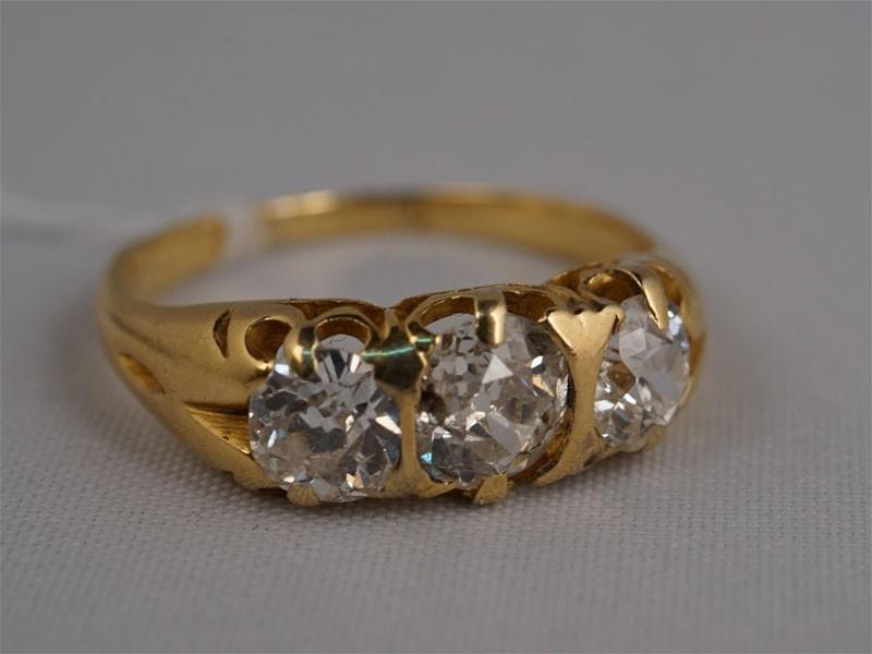 Антиквариат. Кольцо «Дорожка», золото