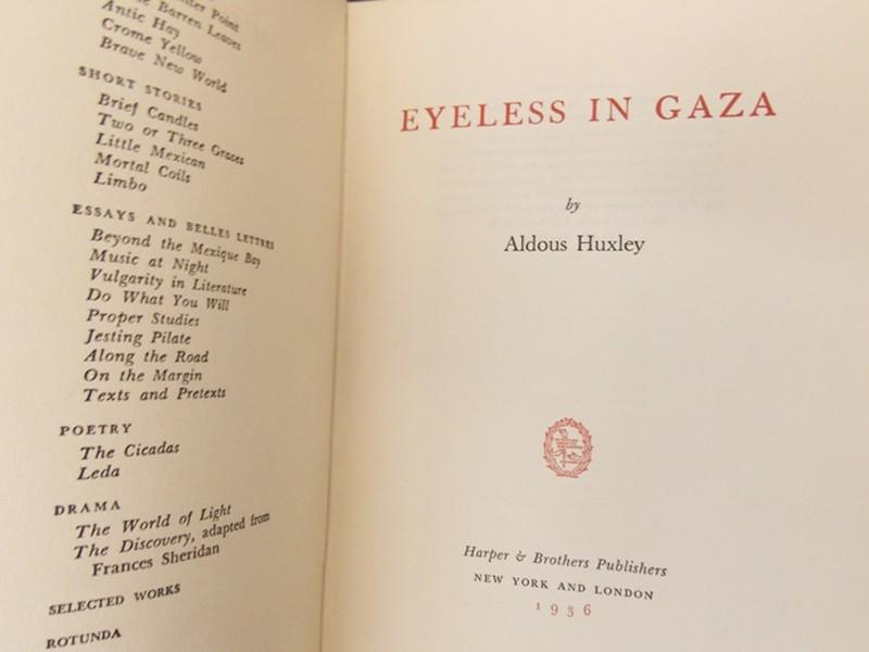 Антиквариат. Хаксли, Олдос. Слепец в Газе