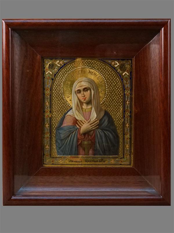 Антиквариат. Икона «Пресвятая Богородица Умиление»