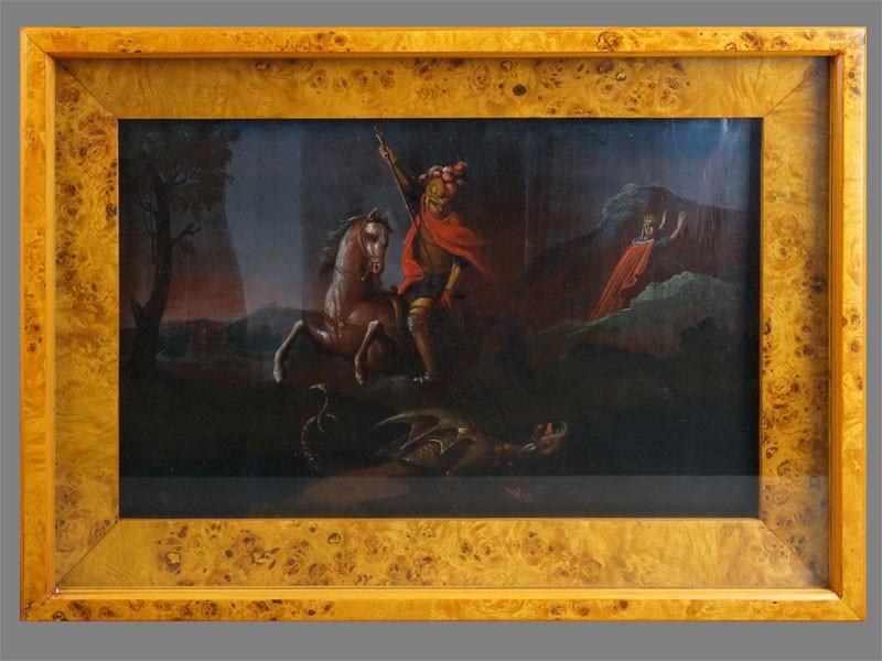 Антиквариат. Икона «Святой Великомученик Георгий Победоносец
