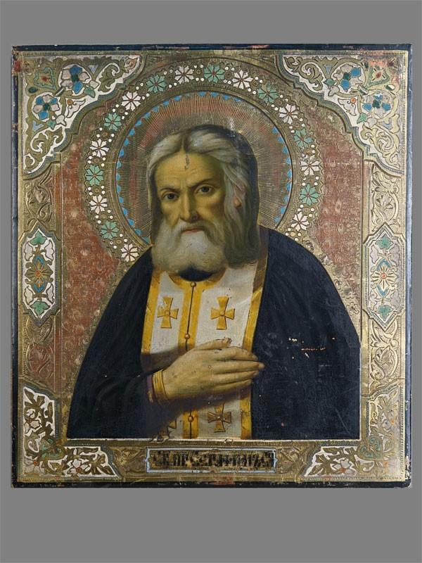 Антиквариат. Икона «Святой Серафим Саровский»