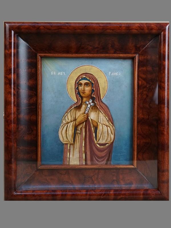 Антиквариат. Икона «Святая Мученица Раиса»