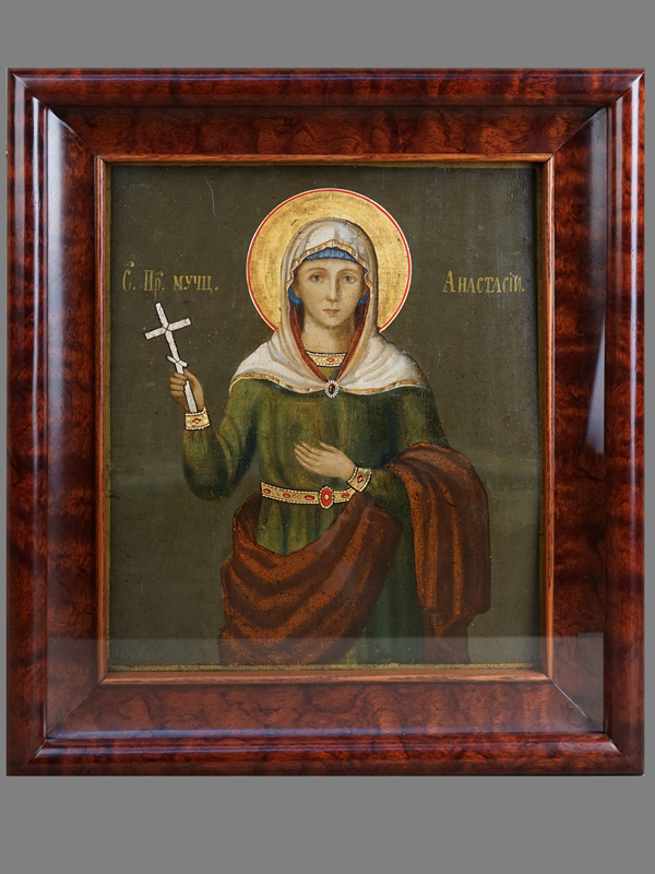 Антиквариат. Икона «Святая Преподобная Мученица Анастасия»