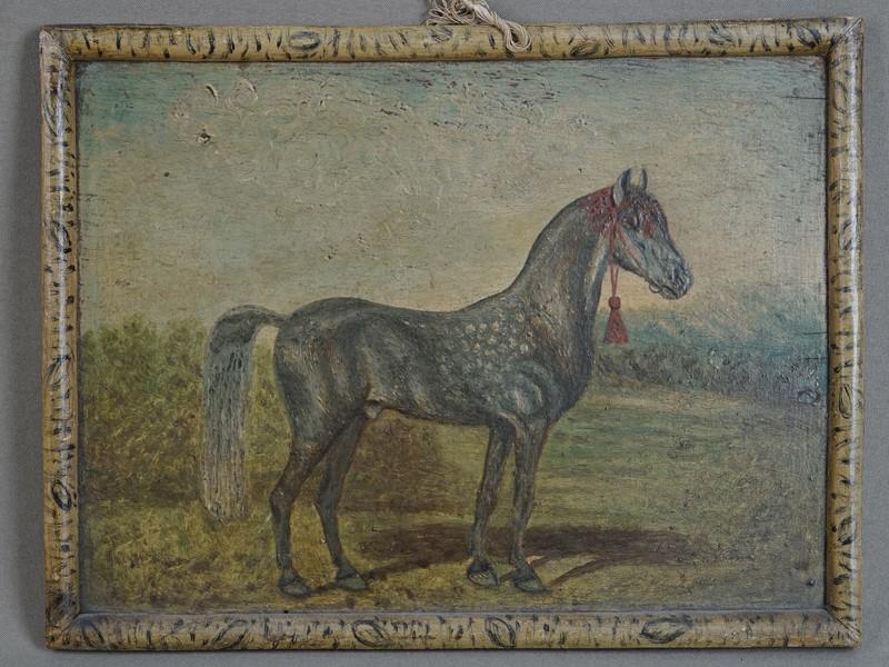 «Лошадь», дерево, масло, 22×28,5см