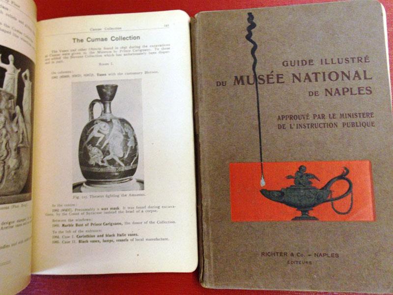 Иллюстрированный гид поНациональному музею Неаполя. — Неаполь: Рихтер иКо, 1900. — 226+224 стр. <i></noscript>На английском ифранцузском языках.</i>