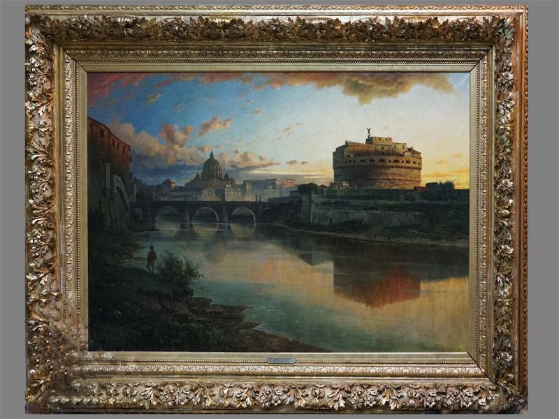 Картина в раме. Franz Reder-Broili (1854 — 1918), «Рим», холст, масло, 100 × 150см