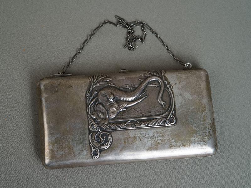 Театральная сумочка «Слон», серебро 84пробы, общий вес— 300,85г., длина— 16см