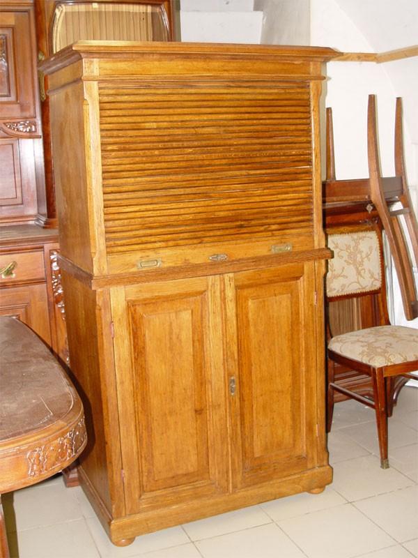 Шкаф конторский, дуб, начало XXвека, Россия, высота— 161см, 90×49см