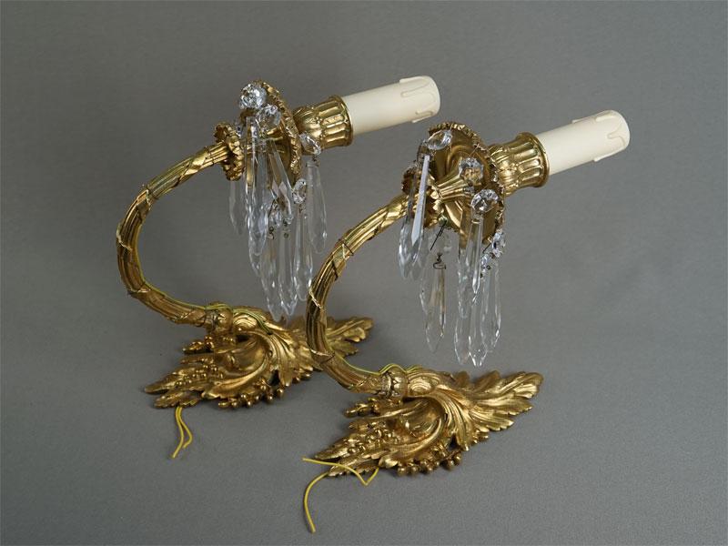 Антиквариат. бра, бронза, лампа люстра светильник