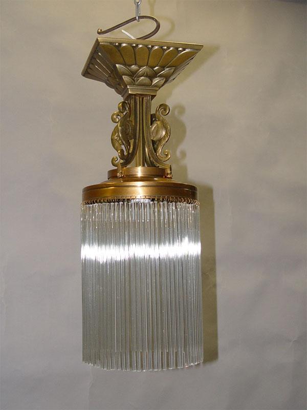 Антиквариат. Люстра ампель лампа