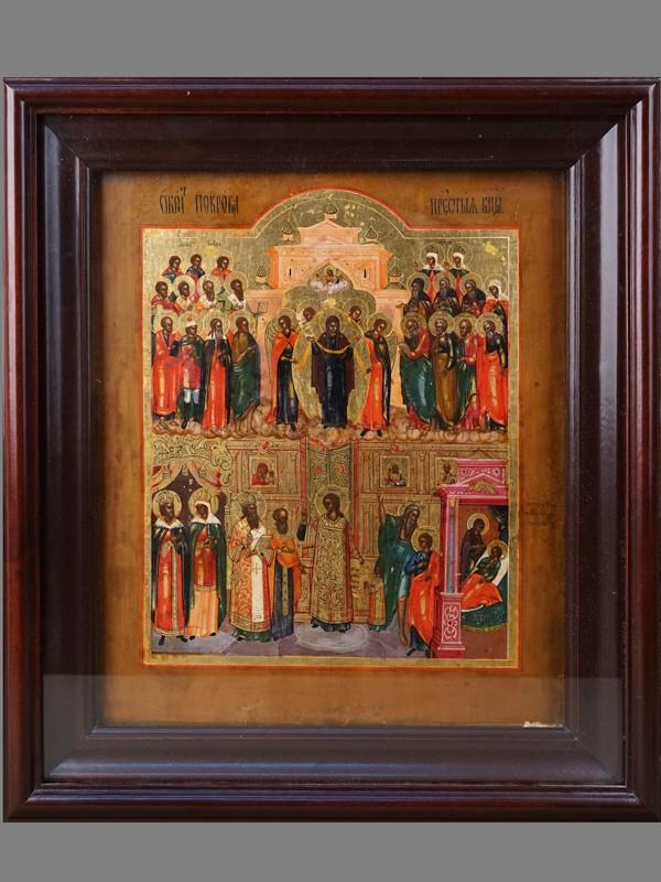 Антиквариат. Икона «Покров Пресвятой Богородицы»