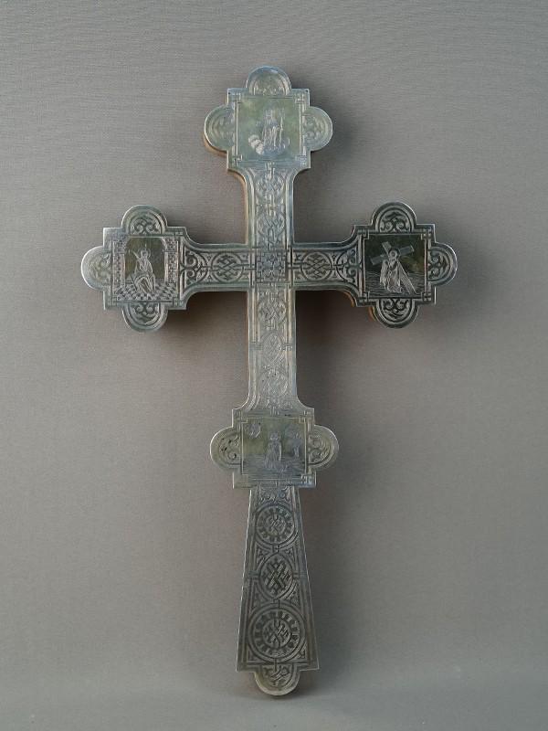Антиквариат. Крест напрестольный серебро 84 пробы