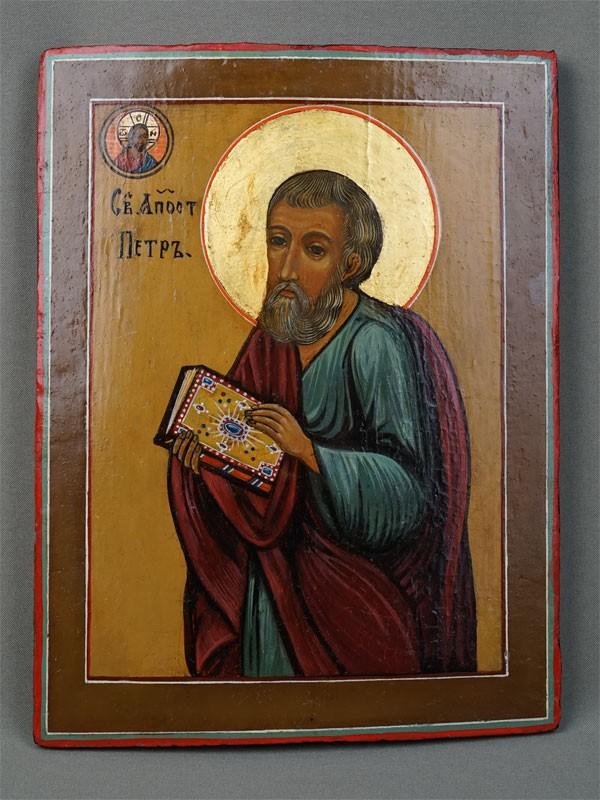 Икона «Святой Апостол Петр», дерево, левкас, темпера, 26×20см