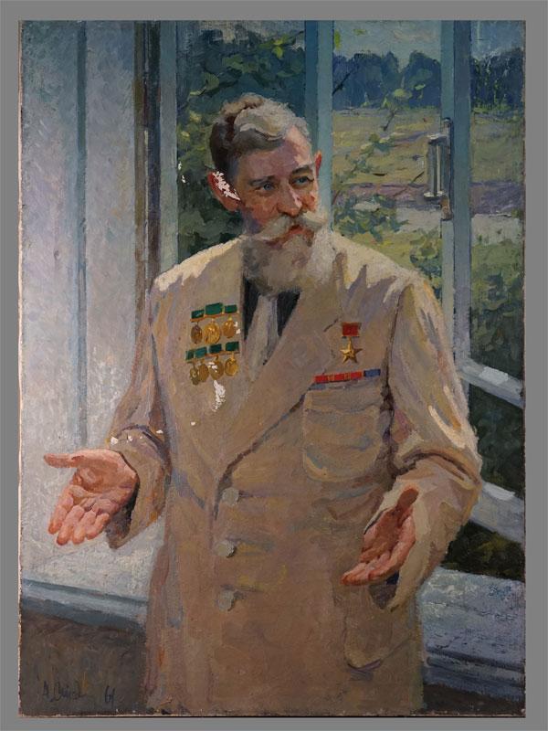 Антиквариат. А.М.Стадник, Председатель колхоз, герой СССР портрет сельское хозяйство